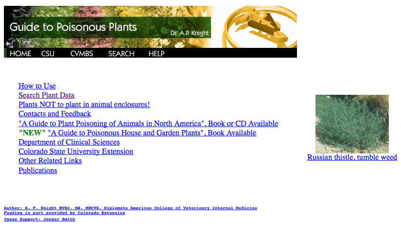CSU Guide to Poisonous Plants