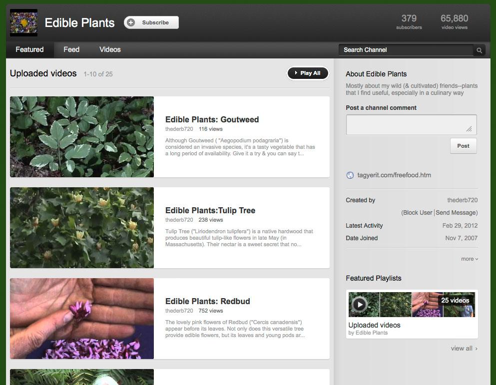 Edible Plants video channel