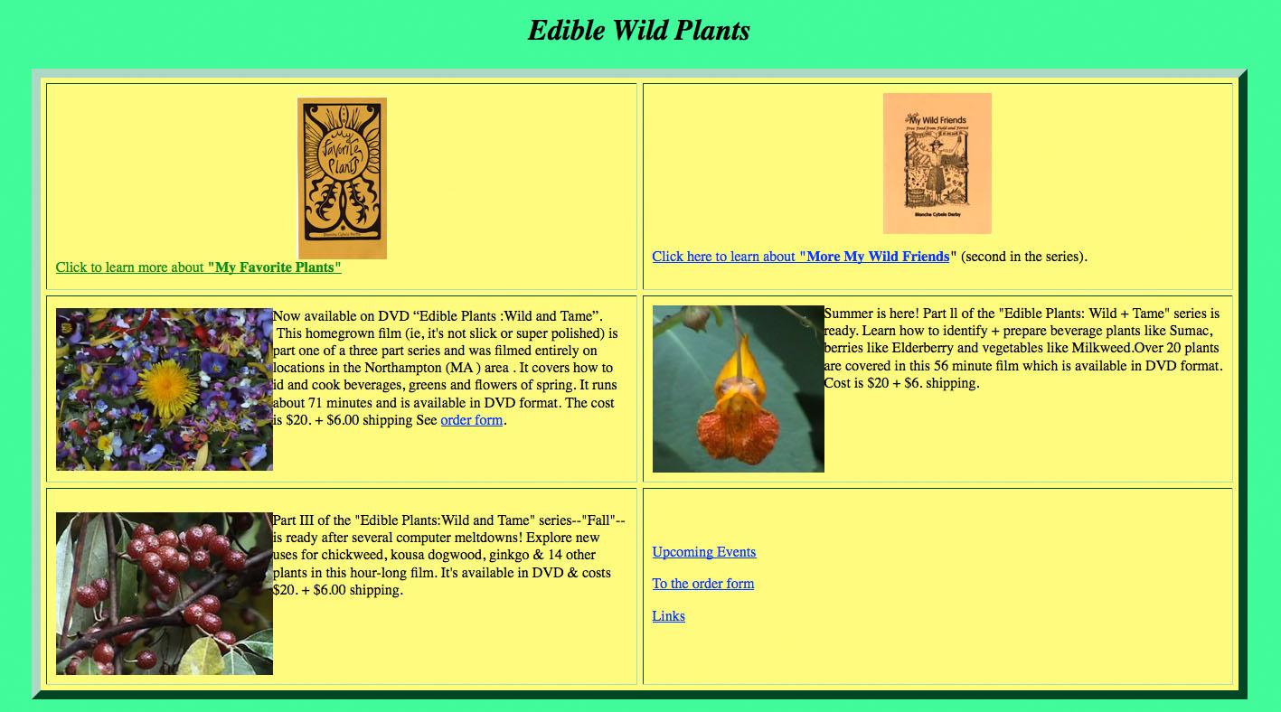 Edible Wild Plants website