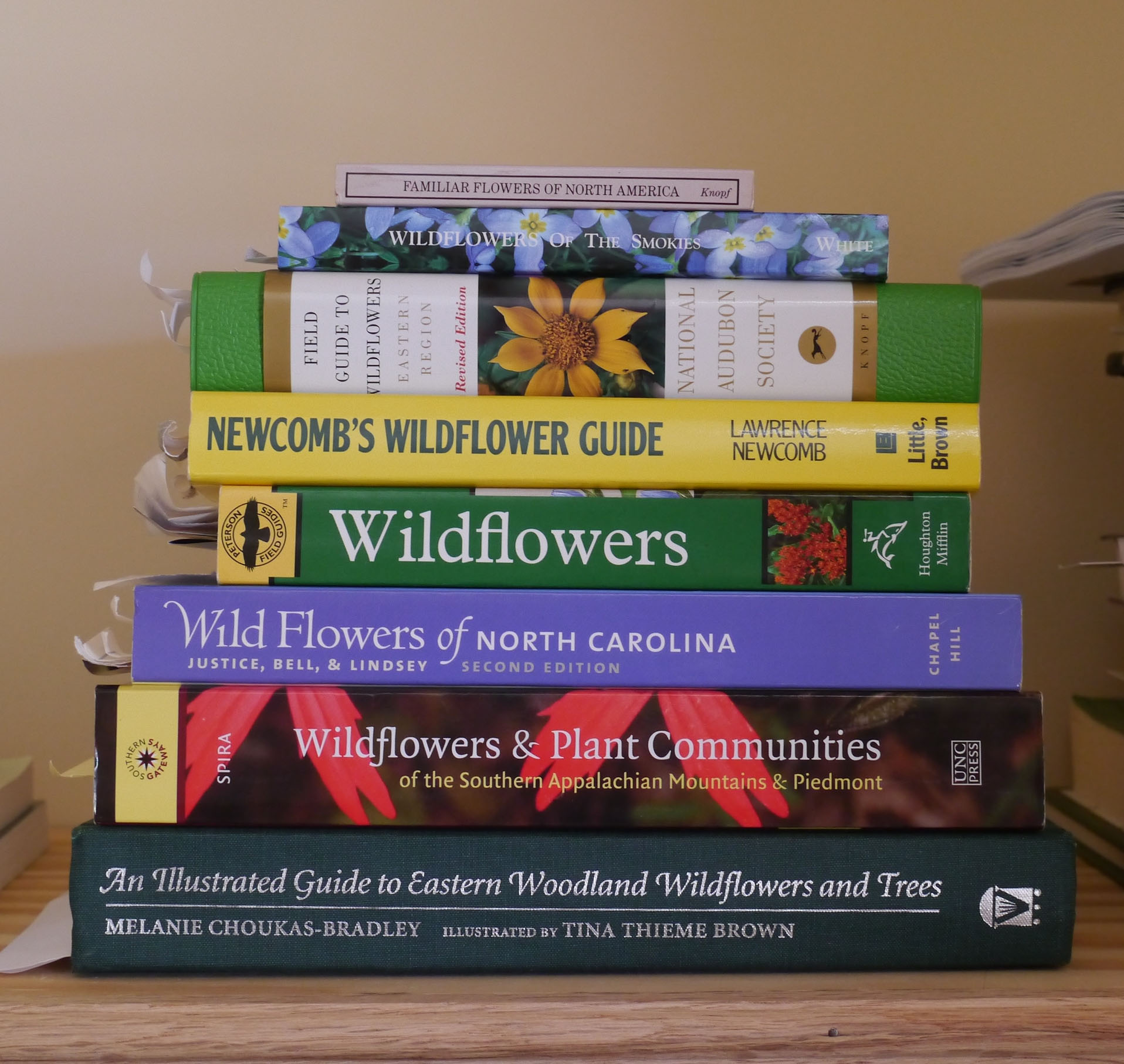 Wildflower field guides