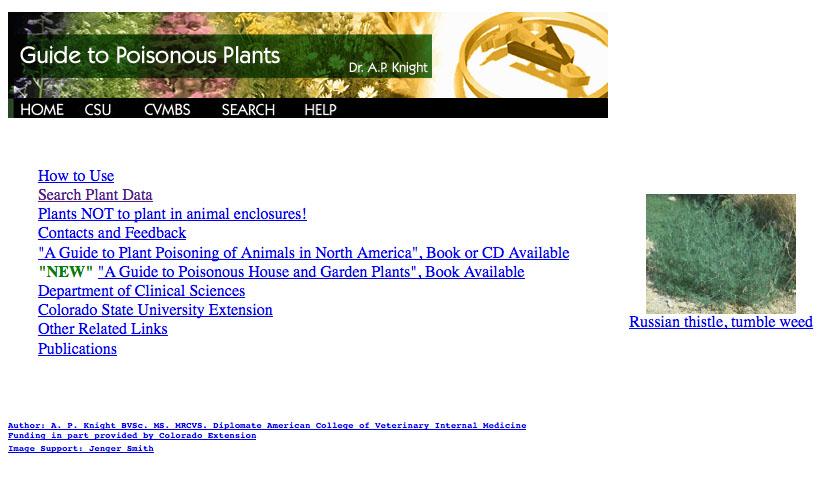 CSU Guide to Poisonous Plants