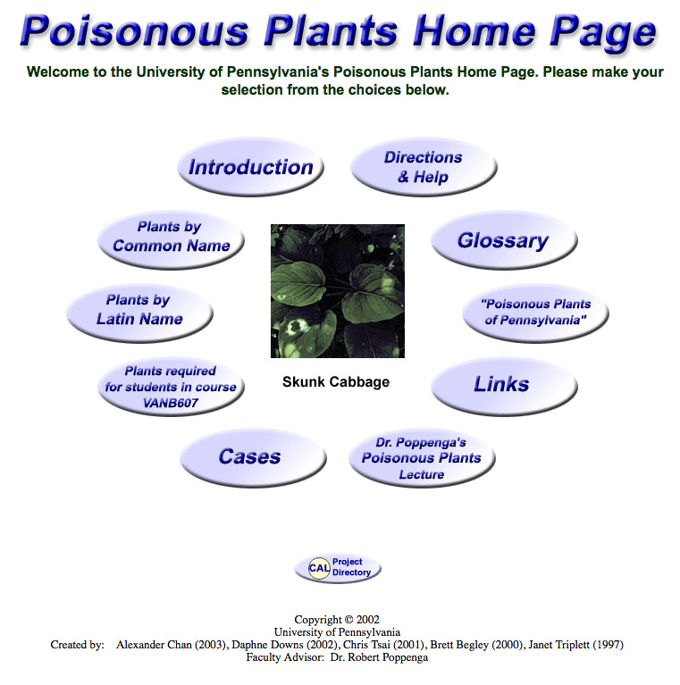 Poisonous plants in PA