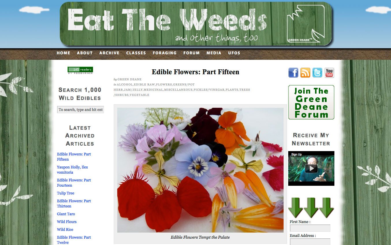 Eat the Weeds website